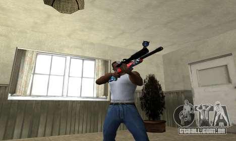 Red Shark Sniper Rifle para GTA San Andreas terceira tela