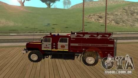 Ural 5557-40 o Ministério das situações de emerg para GTA San Andreas esquerda vista