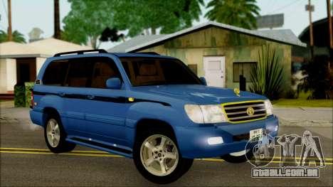 Toyota Land Cruiser 100 UAE Edition para GTA San Andreas