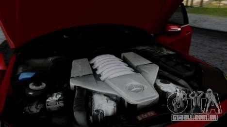 Mercedes-Benz W212 E63 AMG para GTA San Andreas vista interior