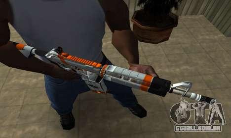 M4 Asiimov para GTA San Andreas segunda tela
