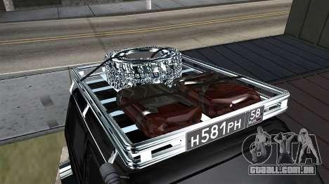 VAZ 2121 Niva Offroad para GTA San Andreas vista traseira