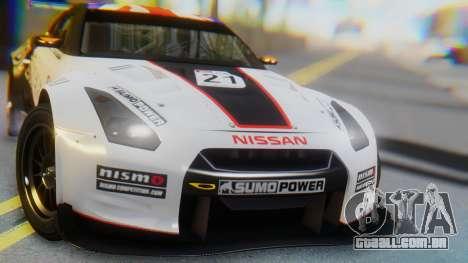 Nissan GT-R GT1 Sumo para GTA San Andreas vista interior