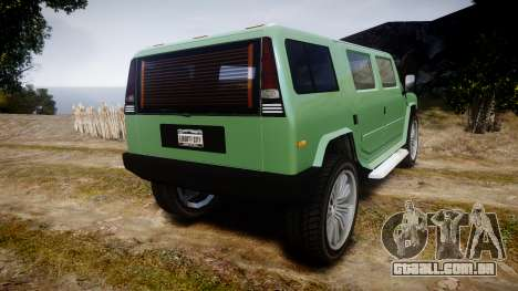 GTA V Mammoth Patriot para GTA 4 traseira esquerda vista