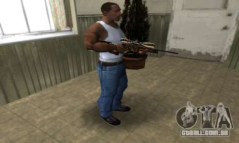 Leopard Sniper Rifle para GTA San Andreas terceira tela