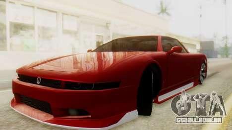 Infernus BMW Revolution with Plate para GTA San Andreas traseira esquerda vista