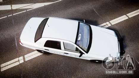 Ford Crown Victoria Bohan Police [ELS] unmarked para GTA 4 vista direita