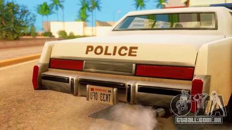 4-door Police Esperanto para GTA San Andreas vista direita