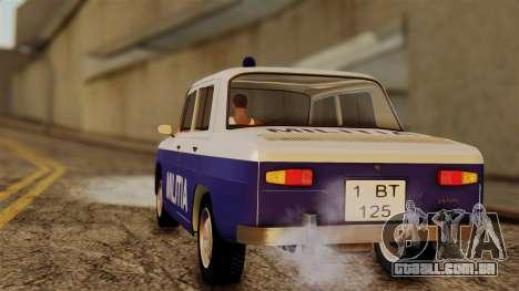 Dacia 1100 Militia para GTA San Andreas esquerda vista