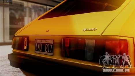 Fiat 147 Al Piso para GTA San Andreas vista traseira