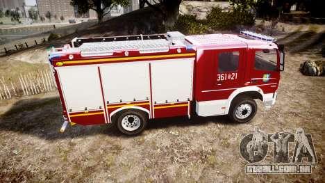 Mercedes-Benz Atego 1530 Firetruck [ELS] para GTA 4 esquerda vista