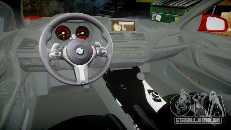 BMW M235i para GTA 4 vista de volta