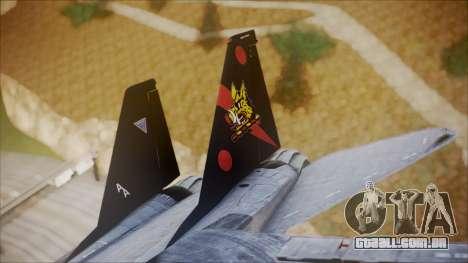F-14B Bombcat VF-11 Red Rippers para GTA San Andreas traseira esquerda vista