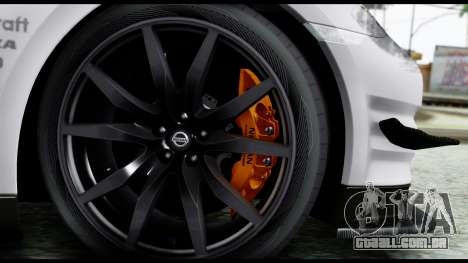 Nissan GT-R R35 2012 para GTA San Andreas traseira esquerda vista
