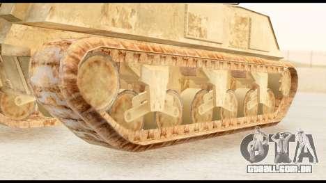 M4 Sherman 75mm Gun Desert para GTA San Andreas traseira esquerda vista