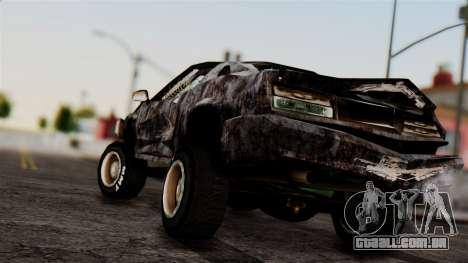 Post-apocalyptic Buffalo para GTA San Andreas esquerda vista
