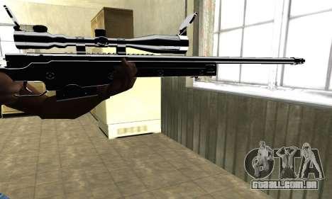 Full Black Sniper Rifle para GTA San Andreas segunda tela