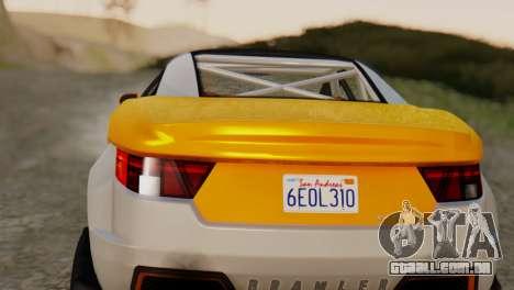 Coil Brawler Gotten Gains para GTA San Andreas traseira esquerda vista