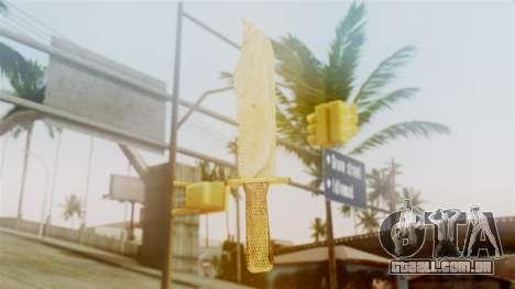 Red Dead Redemption Knife Sergio para GTA San Andreas segunda tela