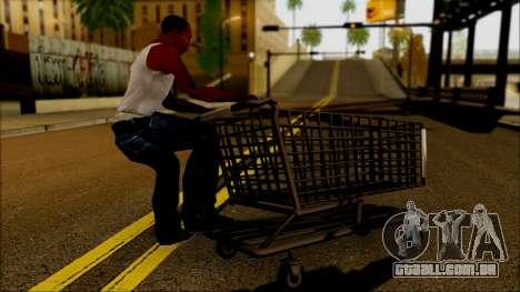 O carrinho no supermercado para GTA San Andreas esquerda vista