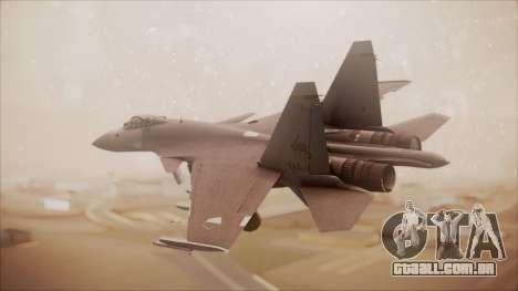 SU-35 Flanker-E Ofnir Ace Combat 5 para GTA San Andreas esquerda vista