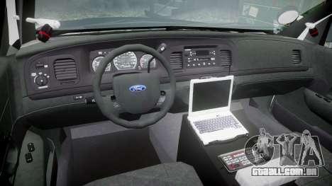 Ford Crown Victoria 2011 LAPD [ELS] rims2 para GTA 4 vista de volta