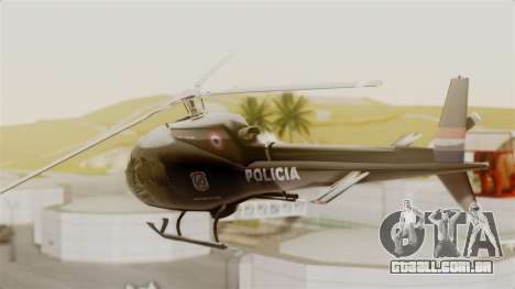 Helicopter National Police of Paraguay para GTA San Andreas esquerda vista