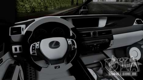 Lexus GS350 Stance Itsuka Kotori para GTA San Andreas vista traseira