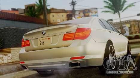 BMW 7 Series F02 2012 para GTA San Andreas esquerda vista