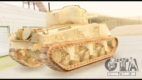 M4 Sherman 75mm Gun Desert para GTA San Andreas esquerda vista
