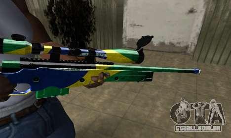 Three Colors Sniper Rifle para GTA San Andreas segunda tela