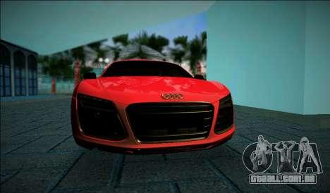 Audi R8 V10 Plus 2014 para GTA Vice City deixou vista