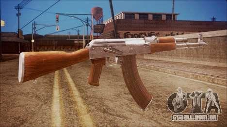 AK-47 v7 from Battlefield Hardline para GTA San Andreas segunda tela