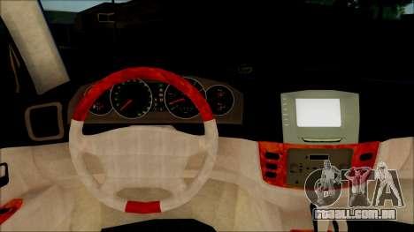 Toyota Land Cruiser 100 UAE Edition para GTA San Andreas vista traseira