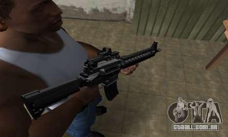 Full Black M4 para GTA San Andreas