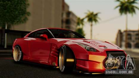 Nissan GT-R R35 Bensopra 2013 para GTA San Andreas vista inferior