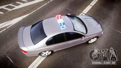 Ford Falcon XR8 Unmarked Police [ELS] para GTA 4 vista direita