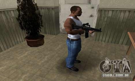 Full Black M4 para GTA San Andreas terceira tela