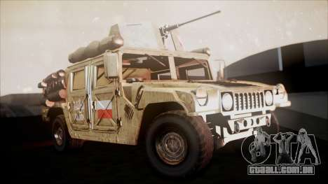 Polish HMMWV para GTA San Andreas vista direita