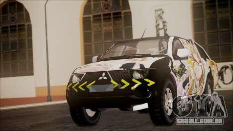 Mitsubishi Strada Triton Itasha para GTA San Andreas