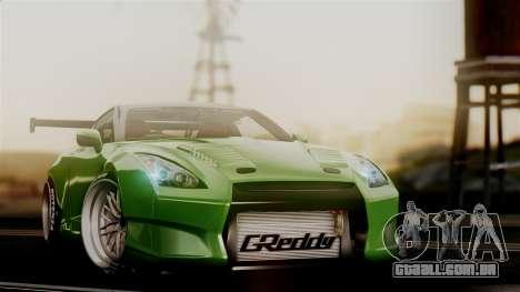 Nissan GT-R R35 Bensopra 2013 para GTA San Andreas vista traseira