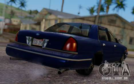 Ford Crown Victoria Civillian para GTA San Andreas esquerda vista
