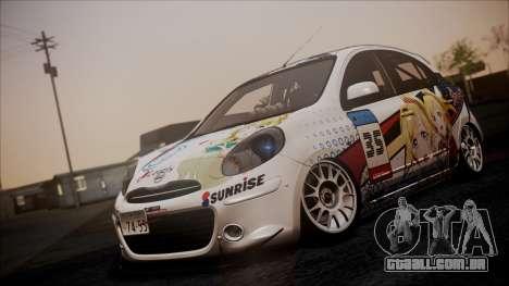 Nissan Micra 2011 Stance Itasha para GTA San Andreas