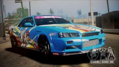Nissan Skyline ER34 Duck Attack Team para GTA San Andreas