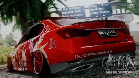 Lexus GS350 Stance Itsuka Kotori para GTA San Andreas esquerda vista