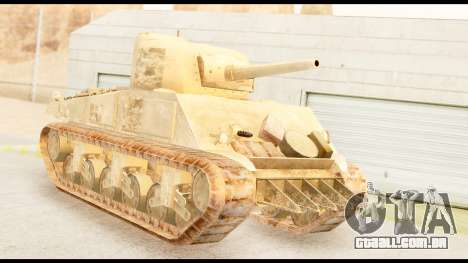 M4 Sherman 75mm Gun Desert para GTA San Andreas