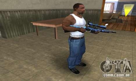 Blue Limers Sniper Rifle para GTA San Andreas terceira tela