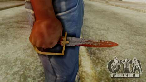 GTA 5 Antique Cavalry Dagger v2 para GTA San Andreas terceira tela