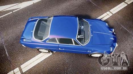 Renault Alpine A110 1973 para GTA 4 vista direita