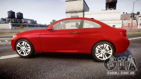 BMW M235i para GTA 4 esquerda vista